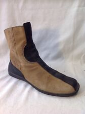 Ecco Brown Ankle Leather Boots Size 37
