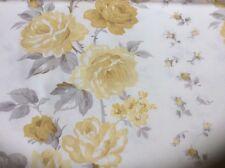 14M price per metre LAURA ASHLEY Clarissa Camomile FABRIC yellow roses floral