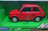 Fiat 126 Rossa - Scala 1:24 Die Cast Welly Nuova