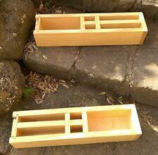 Wood Soap Molds +1, H~Block + 2 Molds 435 x 75 x 90 mm 2.5 Kg Batch each mold