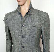 All Saints Men Jacket Herringbone Field Harrington Wool Linen Sz 40 UK M RRP£365