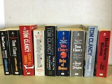 Lot Of 6 TOM CLANCY RANDOM Mix Paperback Intelligence Action Spy Thrillers