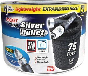 Pocket Hose Silver Bullet Lightweight Expandable Kink-Free Water Hose- Brand New