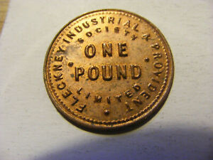 A Fleckney Industrial & Provident One Pound Token - nice condition - 24mm