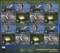 St Vincent & The Grenadines 2014 MNH Semipalmated Sandpiper WWF 16v M/S Birds