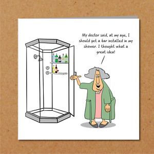 Funny Birthday Card, Mothers Day Card - 50th 60th 70th humorous wife female fun