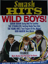 SMASH HITS 25/10/84 - FRANKIE GOES TO HOLLYWOOD - IRON MAIDEN - DURAN DURAN
