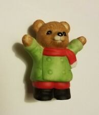 """Teddy Bear Figurine Christmas themed green and red appx 2""""t x 1.5""""w x 1""""d 5101"""