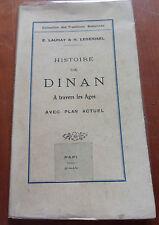 Histoire de Dinan à travers les âges avec plan actuel  - 1930, illustré
