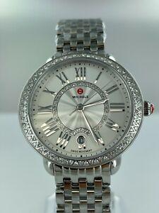 Michele Serein White Dial Diamond Stainless Steel Women's Watch MWW21B000143 NEW