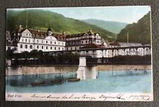 CPA. BAD EMS. Allemagne. 1903. Kurhaus u. Gitterbrucke. Heliocolorkarte.