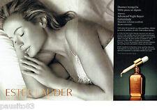 PUBLICITE ADVERTISING  046  2006  Estée Lauder cosmétiques ( 2p)  Night repair