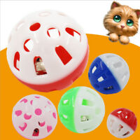 Cat Bell Toy Play Ball Dog Puppy Cat Pounce Chase Training Chew Rattle Toys 2x