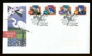 1997 Australia Wetland Birds FDC. Darwin first day cover. Nature