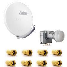 Fuba DAA 850 W SAT Anlage Schüssel HDTV 85 cm Weiss Fuba DEK 417 Quad LNB LNC