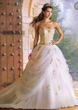 Alfred Angelo Disney's Belle wedding dress ivory gold size 4 RARE