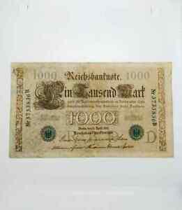 Germany 1910 1000 marks Green Seal D Nr3733836B vf