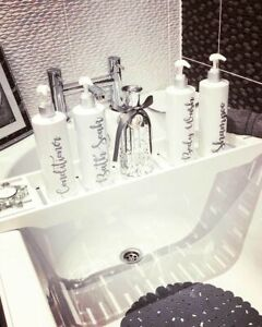 Reusable White Silver Pump Bottle Dispenser Bathroom Mrs Hinch 500ml
