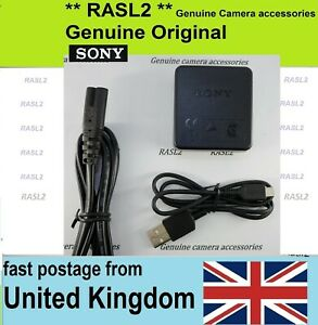 Genuine SONY Charger AC-UB10 + USB cable DSC- WX500 WX200 WX150 WX100 WX80 WX60