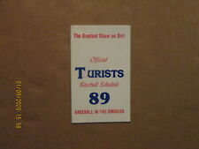 Asheville Tourists Vintage Circa 1989 Team Logo Baseball Pocket Schedule