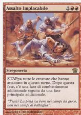 MAGIC MTG - ASSALTO IMPLACABILE -  RARA - ORO - ITALIANO - BORDO BIANCO