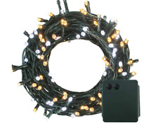 200 LED Battery Powered Green Cable String Fairy Lights Xmas Dual Colour 8 modes