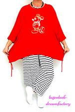 MYO-Lagenlook OVERSIZE Blogger Long-Kasten-Shirt M.MOUSE ROT 44 46 48 50 52 56