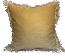 "Urban Loft by Westex 2 Ombre Fringe Feather Pillows Cushion Set Yellow 20"" x 20"""