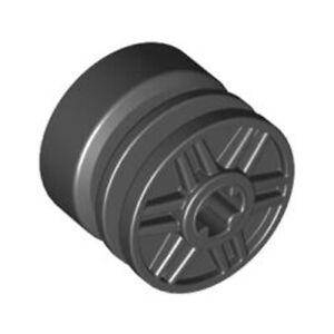 Lego 6x Genuine Technic Black 18x14mm Wide Rim Wheel Hub Axle 4517737 55982 NEW