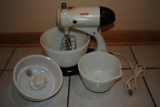 Vintage Sunbeam Mixmaster with Attachment and Bowls