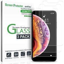 Para iPhone Ten XS Max protector de pantalla 3 Pack caso amistoso W Marco de instalación
