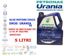 OLIO MOTORE IVECO DAILY DIESEL 5 LT 5W30 URANIA FE PETRONAS 18-1804 CLASSE TFE