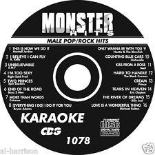Karaoke Monster Hits Cd+G Male Pop/Rock Hits #1078