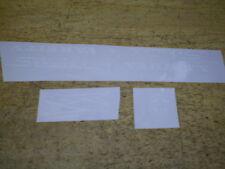 Schwinn Approved White Varsity Bicycle Peel & Apply Vinyl Decal Set