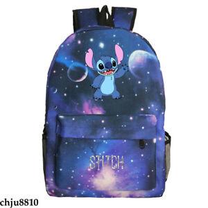 Anime Stitch 3D Print Backpack Zipper Unisex Schoolbag Knapsack Kids Bookbag
