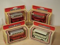 4 Lledo Days Gone AEC Bus DG15: Liverpool Festival, London, General; Hall's +++