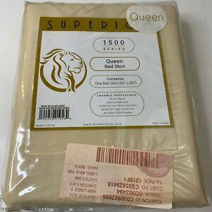 Superior queen bed skirt solid beige queen 60x80 machine washable