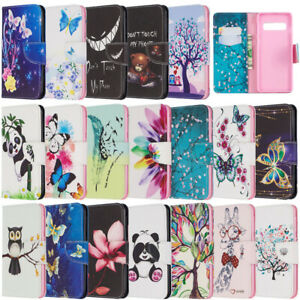 For Samsung Galaxy S10 Plus Note 10 Pro Wallet Flip Leather Phone TPU Case Cover