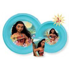 Ensemble vaisselle plastique 3 pièces Vaiana Disney assiette bol verre Moana
