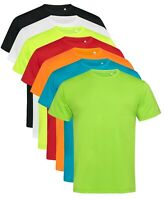 ACTIVE-DRY Plain Cotton Touch Breathable Polyester Sports Tee T-Shirt Tshirt