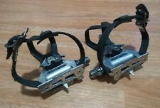 Shimano 600 PD-6400 Tricolor Pedals w Toe Clips 6400 Ultegra Excellent Condition