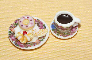 Kaffee und Gebäck  / Puppenstube / Miniaturlebensmittel  *Miniatur1:12 by BP*