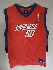 Vintage Reebok Charlotte Bobcats Emeka Okafor # 50 Basketball Jersey Youth Large