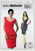 Butterick Pattern 5814 Misses Lined Dress Boned Bodice Sz 14-22 UNCUT