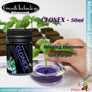 GROWTH TECHNOLOGY CLONEX ROOTING HORMONE GEL PURPLE 50ML CLONING CUTTING VITAMIN