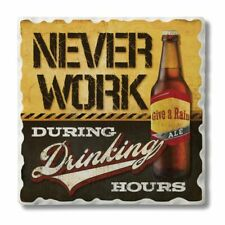 Absorbent Stone Coasters (Set of 4) Never Work During Drinking Hours
