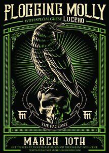 FLOGGING MOLLY / LUCERO ST. LOUIS 2019 CONCERT TOUR POSTER - Celtic Punk Music