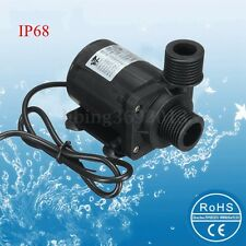 New 12V DC 5M 800L/H IP68 Quiet Brushless Motor Submersible Pool Water Pump US