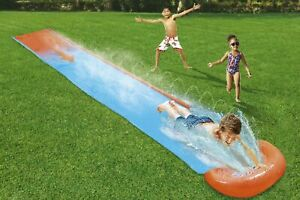 CHILDRENS KIDS SOAK N SPLASH 16' AQUA GARDEN WATER SLIDE SPRAY SPRINKER POOL TOY