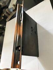 ANTIQUE COPPER FLASH JAPANNED STEEL SINGLE POCKET DOOR MORTISE LOCK HARDWARE